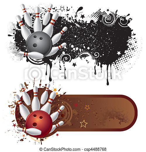 bowling sport design element - csp4488768