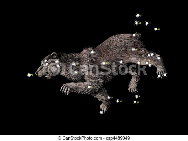 Constellation The Great Bear  - csp4489049