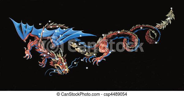 Constellation The Dragon  - csp4489054