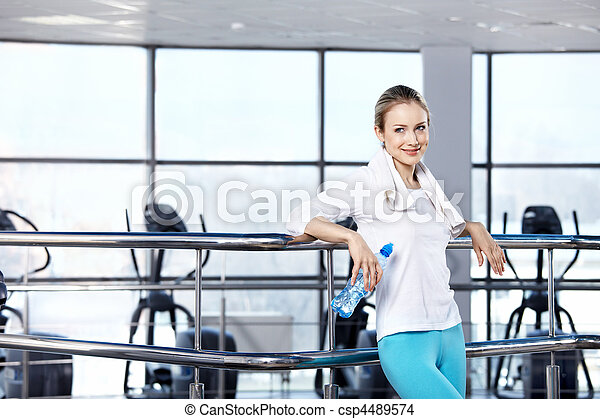 In fitness club - csp4489574