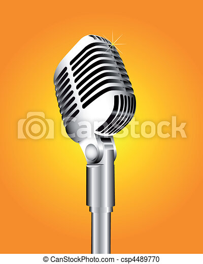 Silvery aluminum microphone - csp4489770