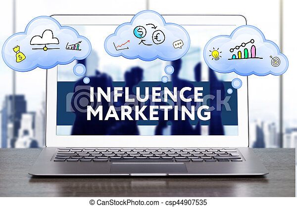 Marketing Strategy. Planning Strategy Concept. Business, technology, internet and networking concept. Influence marketing