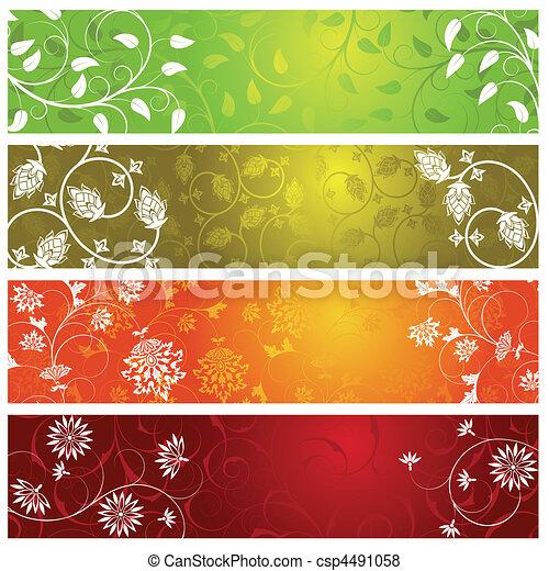 Summer banners - csp4491058