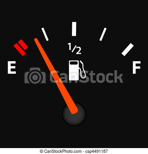Image of a gas gage illustration. - csp4491187
