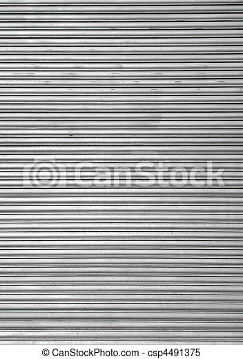 Metal warehouse door security shutters. - csp4491375