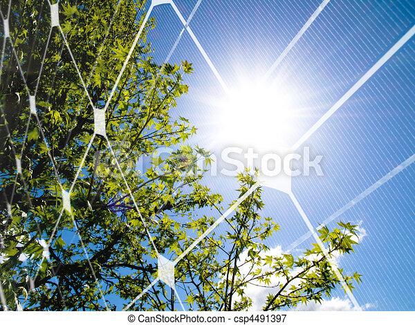 Solar energy concept - csp4491397