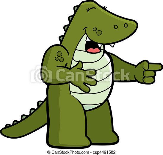 Alligator Laughing - csp4491582