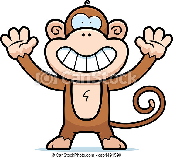 Monkey Smiling - csp4491599