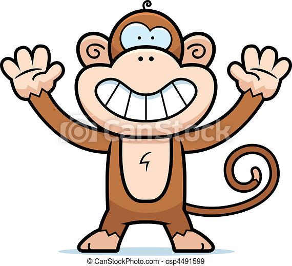 Monkey Smiling - csp4491599