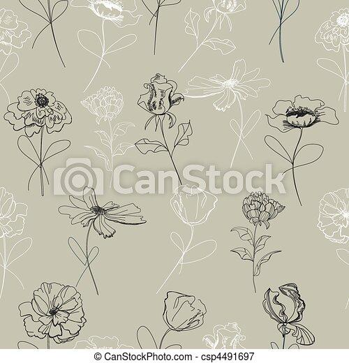 Seamless wallpaper  - csp4491697