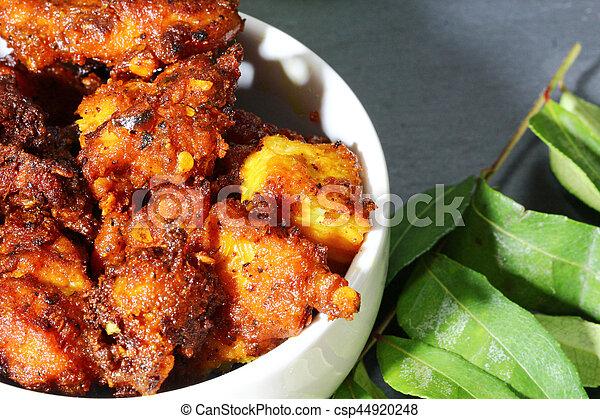 Chicken 65, an Indian chicken appetizer - csp44920248