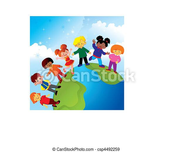 Happy childhood. - csp4492259