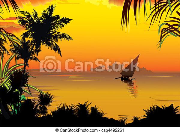 Sunset. - csp4492261
