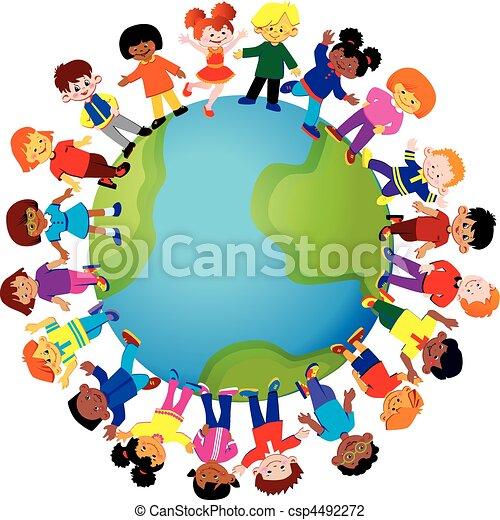Kinder, glücklich - csp4492272