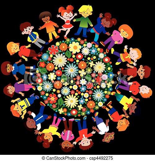 Happy children. - csp4492275