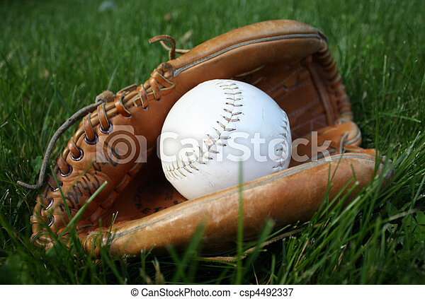 Baseball in glove - csp4492337