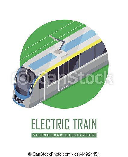 Tramway Vector Icon in Isometric Projection - csp44924454
