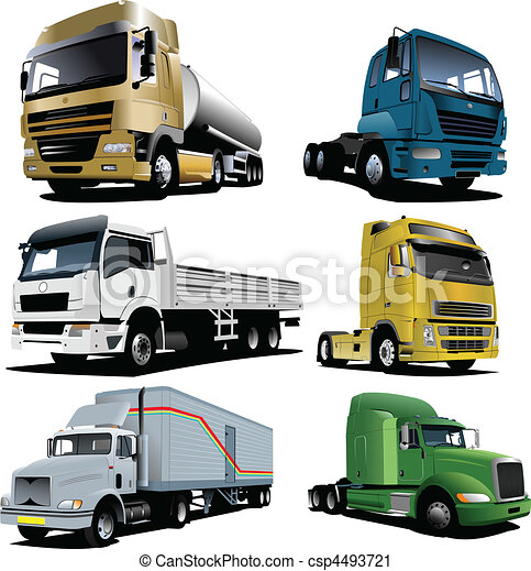 Vector illustration of trucks - csp4493721