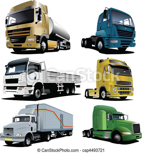 Vector illustration of trucks - csp4493721