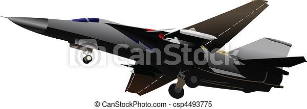 vector combat aircraft - csp4493775