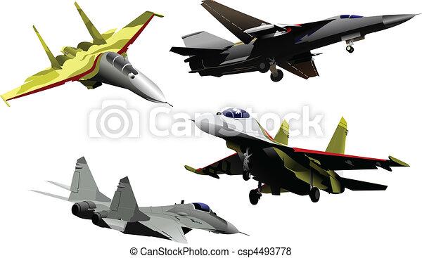 vector combat aircraft - csp4493778
