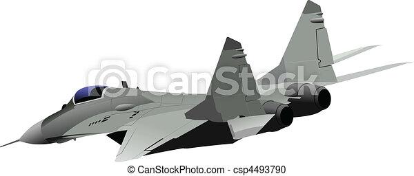 vector combat aircraft - csp4493790