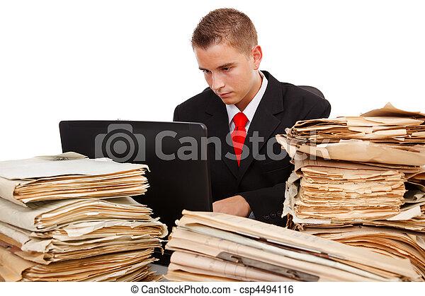 Man working hard - csp4494116