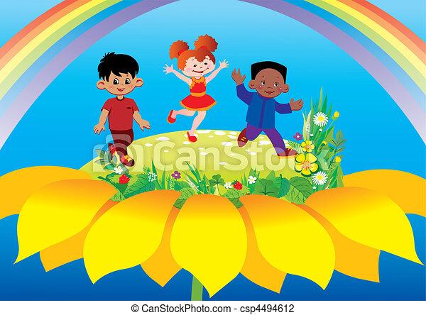 Children play together. - csp4494612