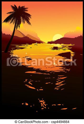 Sunset. - csp4494664