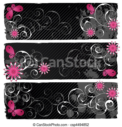 Emo banners - csp4494852