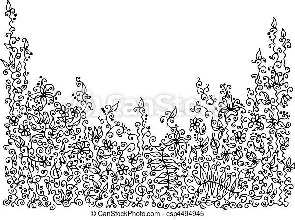 Refined Floral vignette VIII - csp4494945
