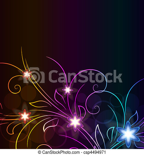 glowing floral background - csp4494971