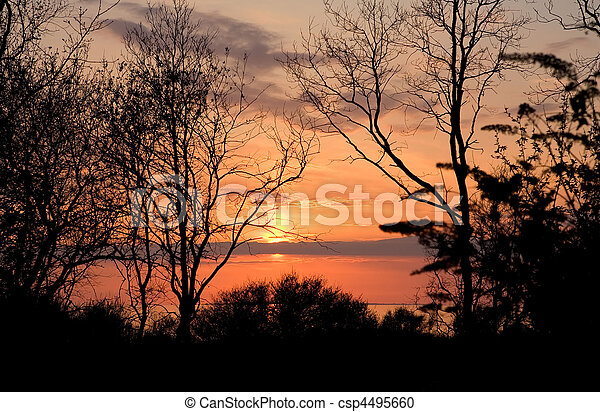 Landscape - Sunset Early Spring - csp4495660