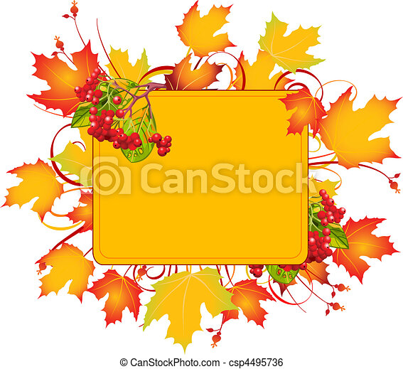 Fall frame - csp4495736