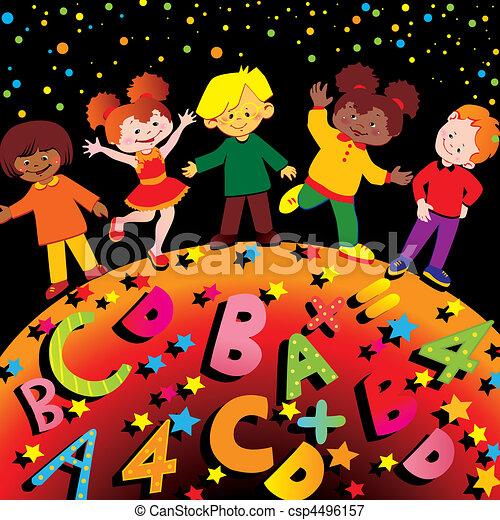 School childhood. - csp4496157