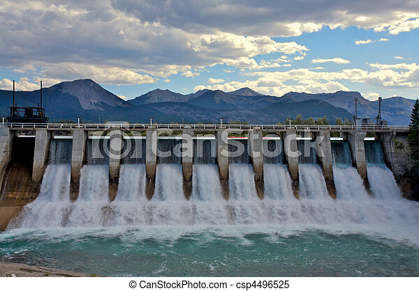 Hydro Dam spillway - csp4496525