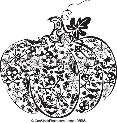 Halloween pumpkin. - csp4496588