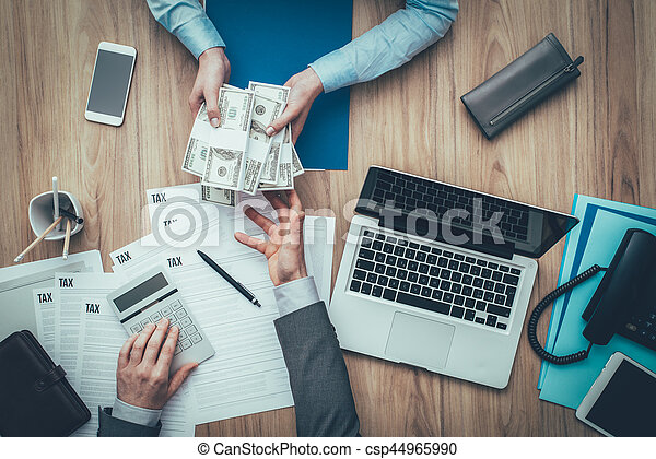 Expensive taxes - csp44965990