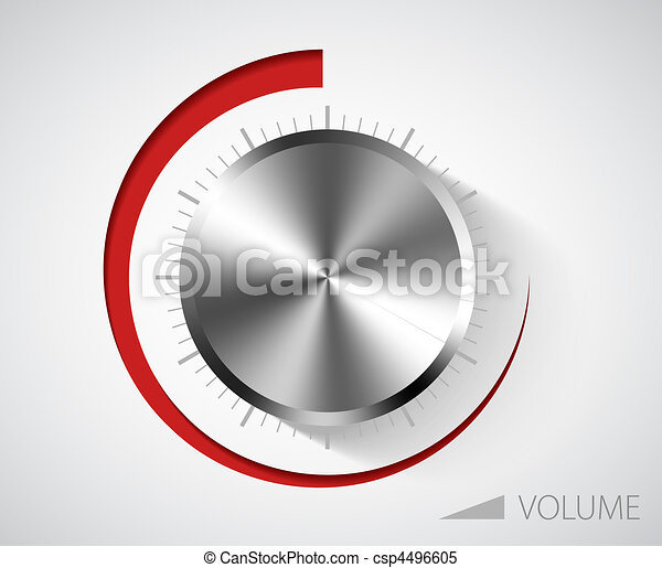 Chrome volume knob - csp4496605