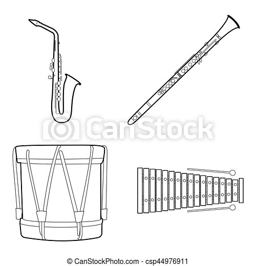 Set of musical instruments - csp44976911