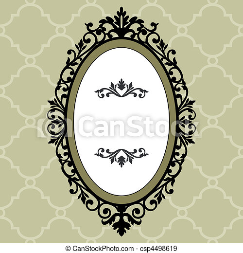 Decorative oval vintage frame - csp4498619