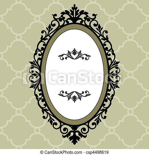 Decorative oval vintage frame - csp4498619