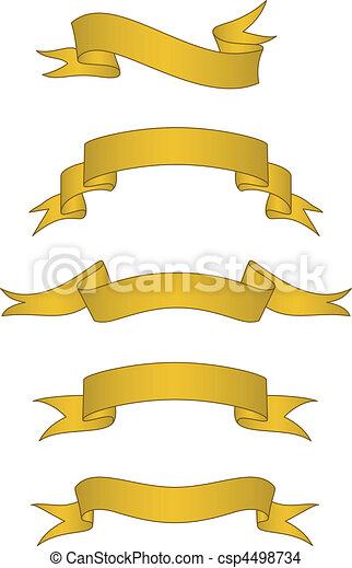 Vector Scroll Banner Set - csp4498734