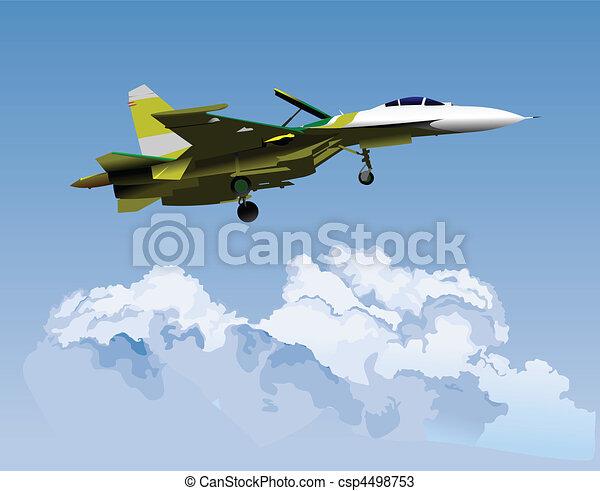 Air force team. Vector illustratio - csp4498753