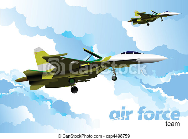 Air force team. Vector illustration - csp4498759