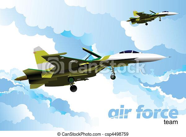 Air force team. Vector illustration - csp4498759