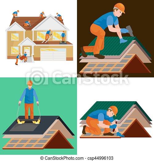 Haus bauen clipart  Vektor Clipart von reparatur, haus, ausrüstung, draußen, werkzeuge ...