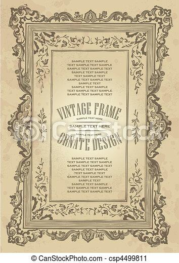 vintage frame design (vector) - csp4499811