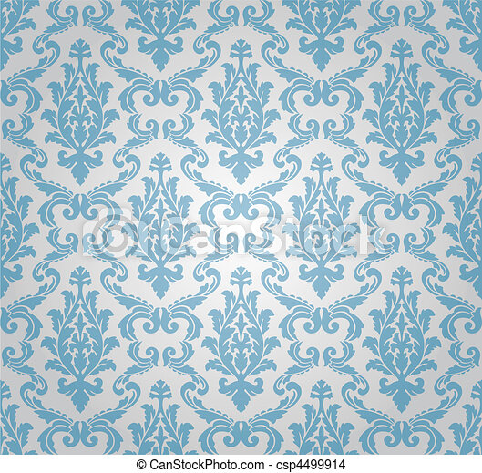 seamless damask pattern (vector) - csp4499914