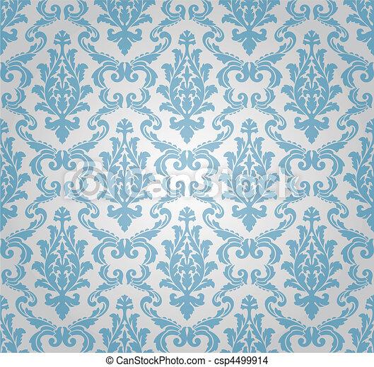 seamless damask pattern (vector) - csp4499914